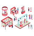 trade exhibition isometric set vector image vector image
