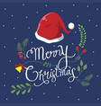 typography christmas vector image