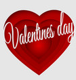 valentines day 3d abstract paper cut vector image vector image