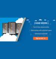 web hosting server or cloud server advertisement vector image vector image