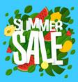 websummer sale floral template vector image vector image