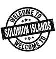 welcome to solomon islands black stamp vector image vector image
