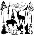 woodland vector image