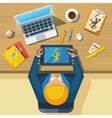 Work Place Designer Flat Icon Poster vector image vector image