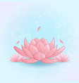 yoga lotus pink vector image vector image
