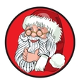 Santa Claus Cartoon Character Showing Merry vector image