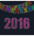 2016 Christmas Festive Background vector image