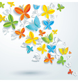 Abstract background with butterflies vector image vector image