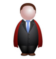 abstract businessman icon vector image