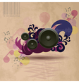 Abstract vintage music background vector image