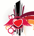 abstraction with heart artwork vector image