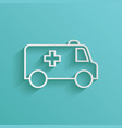ambulance line icon vector image vector image