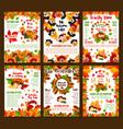 autumn sale discount fall shop posters set vector image vector image