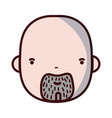 avatar man head with beard design vector image