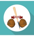 Baseball design sport and supplies vector image