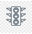 big traffic light concept linear icon isolated on vector image