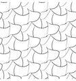 Black abstraction petals seamless pattern vector image