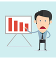 cartoon with bar graph in flat design vector image