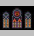 cathedral mosaic windows background vector image