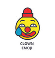 clown emoji line icon sign vector image vector image