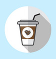 coffee cup logo icon design and coffee beans vector image vector image