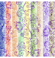 colorful floral seamless striped pattern vector image vector image