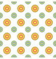 colorful seamless pattern of abstract flowers on vector image vector image
