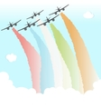 Colourful Joy Peace Plane Cloud Rainbow Design vector image vector image