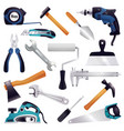 construction renovation carpentry tools set vector image vector image