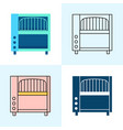 conveyor toaster icon set in flat and line styles vector image vector image