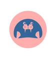 cute seal circular icon vector image vector image