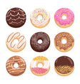 Donuts collection part 2 vector image vector image