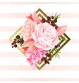 elegance flowers bouquet of color roses and tulips vector image vector image