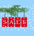 eps 10 christmas sale banner with red posters vector image vector image