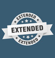 extended ribbon extended round white sign extended vector image vector image