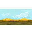 fields game background landscape vector image vector image