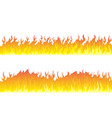fire flame frame borders vector image vector image