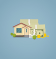 Flat house with money vector image vector image