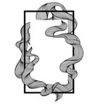 frame with wave line curls vector image vector image