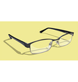 Glasses With Yellow Background vector image vector image