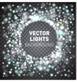 Glowing lights isolated on transparent background vector image