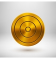 Gold Technology Circle Metal Badge vector image