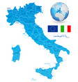 green map italy vector image