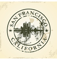 Grunge rubber stamp with San Francisco California vector image vector image