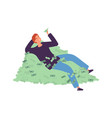 guy resting on money cash investment business or vector image vector image