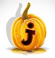 Halloween Pumpkin J vector image vector image