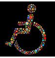 handicap sign vector image
