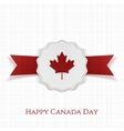 Happy Canada Day paper Label with Type vector image vector image