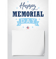 happy memorial day usa lettering light banner vector image