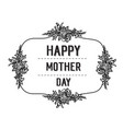 happy mother day card flower background vector image vector image